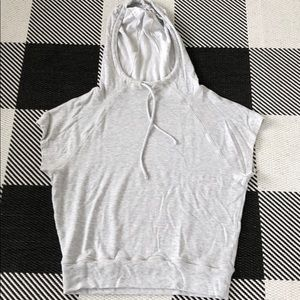 Athleta hoodie T shirt gray summer weight